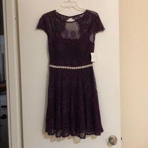 David's Bridal Cap Sleeve Lace Dress